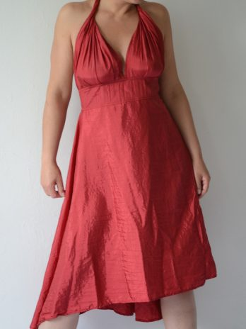 "Sexy rotes Wickelkleid ""Marylin"" , one size"