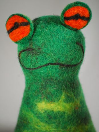 Eierwärmer Frosch