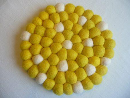 filzuntersetzer-gelb