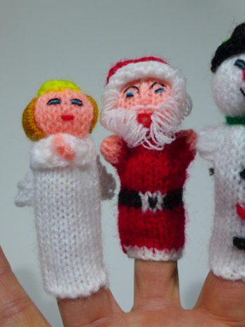 """Fingerpüppchen """"Weihnachten"""""""