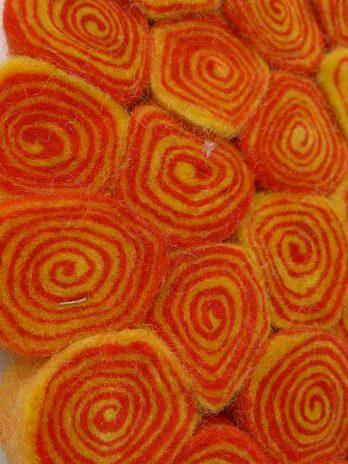 """Filz-Untersetzer """"Biskuitrolle"""" orange"""