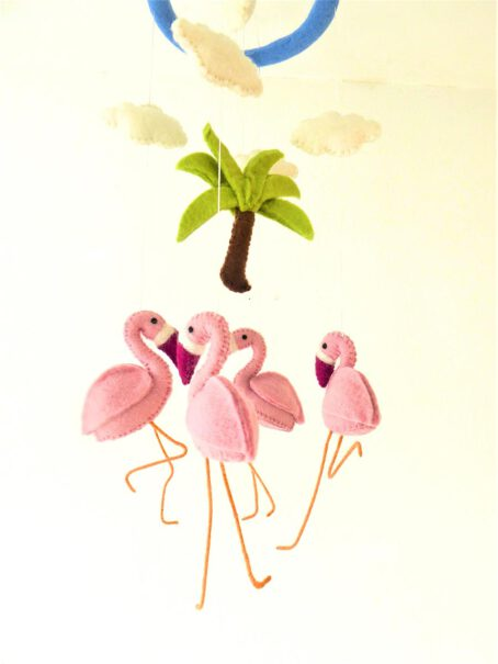 Mobile-aus-Filz-Flamingos-1