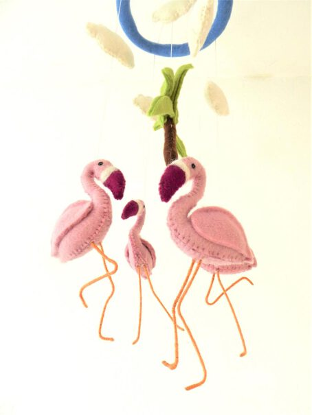 Mobile-aus-Filz-Flamingos-2