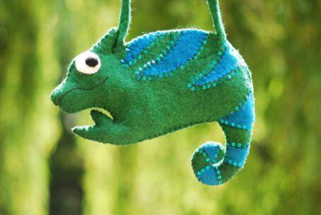 Filz-Tasche Chamäleon grün