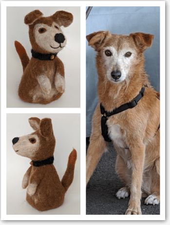 Filzeierwaermer inspired by dog